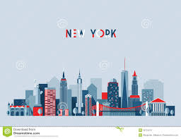 New York City Architecture Vector Illustration Stock Vector