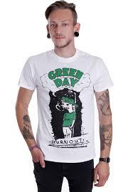 Smashing Pumpkins Merchandise T Shirts by Green Day Burnout White T Shirt Official Rock Merchandise