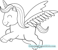 Coloring Pages Cute Anime Unicorn
