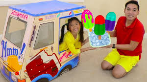 100 Toy Ice Cream Truck Wendy Pretend Play W Popsicle Kids S YouTube