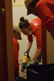 Bathtub Drain Leaking Through Ceiling by Donated Day Of Service To Local Families Through Neighborlink