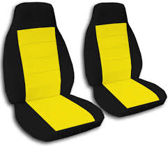 Two-Tone Car Seat Covers (Front, Semi-custom) Black & Red/Yellow ... Custom Chartt And Seatsaver Seat Protectors Covercraft Canine Covers Semicustom Rear Protector Burgundy Car Solid Color Full Set Semi Coverking Genuine Crgrade Neoprene Customfit Saddle Blanket Custom Car Seat Covers Are Affordable Offer A Nice Fit Amazoncom Natural Wood Bead Cover Massage Cool Cushion Camouflage Front Semicustom Treedigitalarmy Licensed Collegiate Fit By Blue Camo Oxgord 17pc Pu Leather Red Black Comfort Truck Suppliers