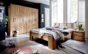 schlafzimmer doppelbett wildeiche massivholz rödemis i 140 x 200 cm