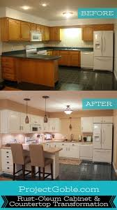 Cabinet Refinishing Kit Before And After by Best 25 Rustoleum Cabinet Transformation Ideas On Pinterest