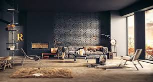 Industrial Decorating Ideas For Living Rooms With Exposed Brick