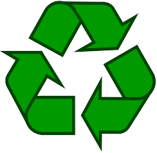 Recycling Symbol Icon Outline Solid Dark Green