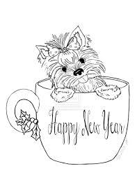 Elegant Yorkie Coloring Pages 98 For Free Book With