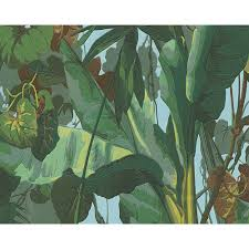 AS Creation Nature Embossed Leaf Pattern Floral Jungle Wallpaper 958981