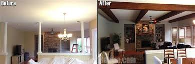 Living Room Makeovers Diy by Wood Beams Living Room Makeover Rustic Living Room
