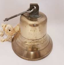 100 Fire Truck Bell Vintage Bronze Engine Large Bronze 8 Inches Diameter