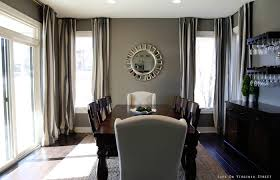 Room Interior And Decoration Medium Size Dining Curtains With Gray Walls Curtainan Egant Long Living
