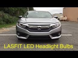 lasfit highbeam led headlight replacement on 2016 honda civic