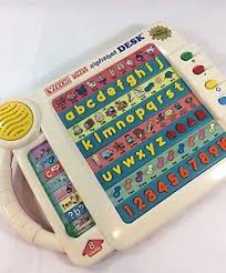 vtech smart alphabet picture desk vtg vtech smart alphabet desk talking electronic preschool