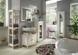 massivholz bad möbel set 5teilig kiefer massiv weiß lasiert