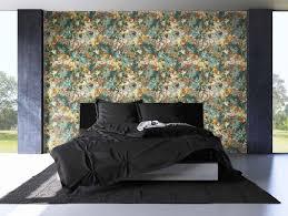 newroom vliestapete blumentapete grün bunt wallpaper floral