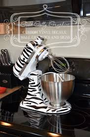 Kitchen Mixer Vinyl Decal Zebra Print Set Vinyls Animal Decor Accessories Uk Full