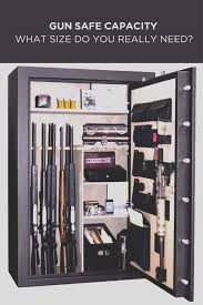 Homak Gun Cabinet Brown by Gun Safe Capacity What Size Do You Really Need