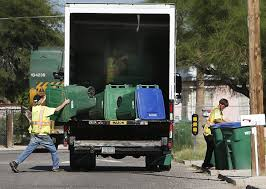 100 Garbage Trucks In Action Tucson Delivering Old Garbage Trucks Cans To South Tucson Local