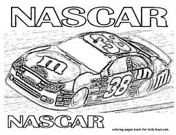 Pin Drawn Race Car Colouring Page 3