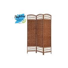 paravent raumteiler groß aus bambus farbe wenge für wohn oder schlafzimmer dekorativ 170cmx120cmx2cm haus und mehr