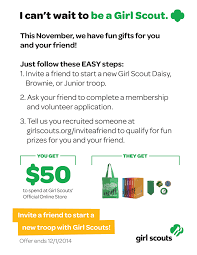 Top Ten Reasons To Invite A Friend To Volunteer At Girl Scouts Girl Scouts On Twitter Enjoy 15 Off Your Purchase At The Freebies For Cub Scouts Xlink Bt Coupon Code Pennzoil Bothell Scout Camp Official Online Store Promo Code Rldm October 2018 Mr Tire Coupons Of Greater Chicago And Northwest Indiana Uniform Scout Cookies Thc Vape Pen Kit Or Refill Cartridge Hybrid Nils Stucki Makingfriendscom Patches Dgeinabag Kits Kids