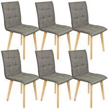 stühle im 6 er set modern esszimmerstühle küchenstühle wohnzimmerstuhl dunkelgrau polsterstuhl mit rückenlehne knöpfe echt holz beinen belastbar