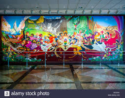 colorful mural titled in peace harmony with nature by leo