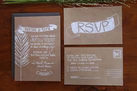 Wedding Invitation Kraft Paper Invitations