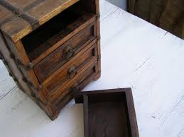 Image Of Rustic Jewelry Box With Drawers