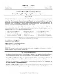 Create Manufacturing Project Manager Resume Production Rh Hr3d Info Controller