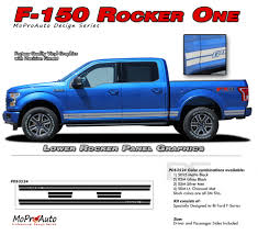 F150 Bed Dimensions by 2015 2017 Rocker One F 150 Lower Side Panel Solid Decals Stripes