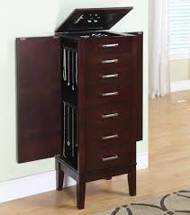 Powell Contemporary Dark Espresso Jewelry Armoire 383-317 Jewelry Armoires Bedroom Fniture The Home Depot Armoire Mirror Modern Style Belham Living Hollywood Mirrored Locking Wallmount Mele Co Chelsea Wooden Dark Walnut Amazoncom Powell Classic Cherry Kitchen Ding Natalie Silver Top Black Options Reviews World Southern Enterprises Mahogany