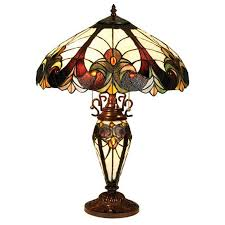 Tiffany Style Lamp Shades by Shop Chloe Lighting 25 In Tiffany Style Indoor Table Lamp With