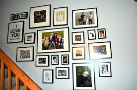 Ideas For Displaying Family Photos On Wall Hanging Pictures Including Very Simple Design