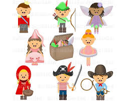 Items Similar To Dress Up Costumes Digital ClipArt On Etsy
