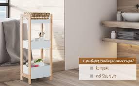 badregal korbregal standregal badezimmer regal bambus 3