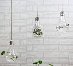 2015 fashion light bulb shaped glass hanging bulb vases clear air