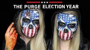 Halloween Purge Mask by The Purge Election Year Halloween Makeup Tutorial The Purge Mini