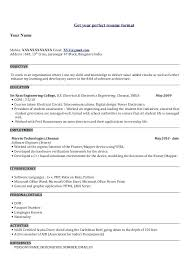 Resume Headline Excellent For It Fresher Templates Word With