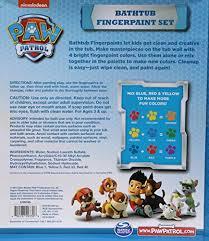amazon com nickelodeon paw patrol bathtub finger paint set toys