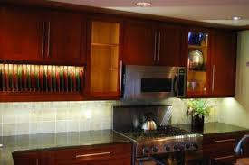 glow cabinet led lighting installed the kitchen