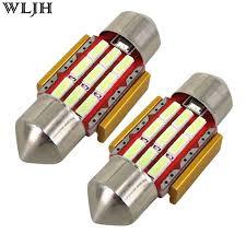 wljh 4x festoon led31mm car interior light bulb de3175 9 smd dome
