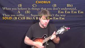 Rockin Around The Christmas Tree Chords Beatles by Superstitious Stevie Wonder Mandolin Cover Lesson In Em With