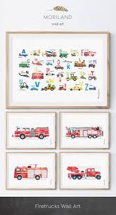 Firetruck Print, Fire Truck Printable, Fire Engine Print ...