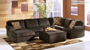 Brown Corduroy Sectional Sofa by Vista Chocolate Living Room Collection From Signature Design By