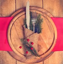 Rustic Christmas Dinner Table