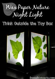 wax paper nature night light think outside the toy box from