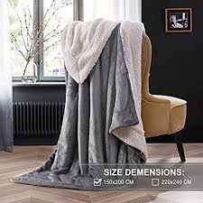 kuscheldecke fleecedecke weiche decke grau dicke wolldecke 150x200cm warme kuschelige decke wohnzimmer aus hochwertige lammfell hellgrau oelife