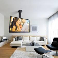contemporary tv ceiling mount lift maior remote