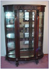 Curved Glass Curio Cabinet by Antique Curved Glass China Cabinet Value Cabinet Home
